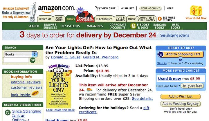 Amazon website in 2002