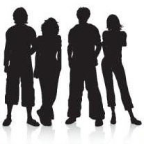 Facebook People Silhouette