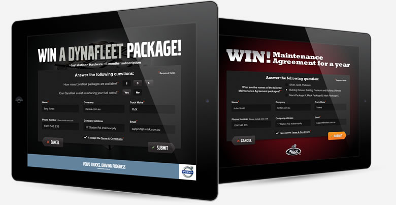 Volvo & Mack Trucks Enter Competition Screen